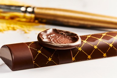 New Year chocolate bar